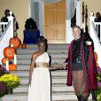 Le maire de New York Bill de Blasio et sa femme Chirlane McCray organisent une soirée d'Halloween à New York, le 28 octobre 2014.
