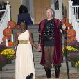 Le maire démocrate de New York Bill de Blasio et sa femme Chirlane McCray organisent une soirée pour Halloween à New York, le 28 octobre 2014.
