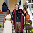 Le maire de New York Bill de Blasio et sa femme Chirlane McCray organisent une soirée pour Halloween à New York, le 28 octobre 2014.