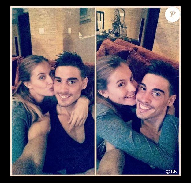 Alvaro Ruiz, fils de Fernando Hierro, et sa compagne Desiré Cordero, Miss Univers Espagne - octobre 2014