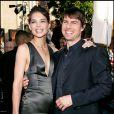 """Katie Holmes et Tom Cruise lors de la première de """"Batman Begins"""" à Hollywood, le 6 juin 2005."""