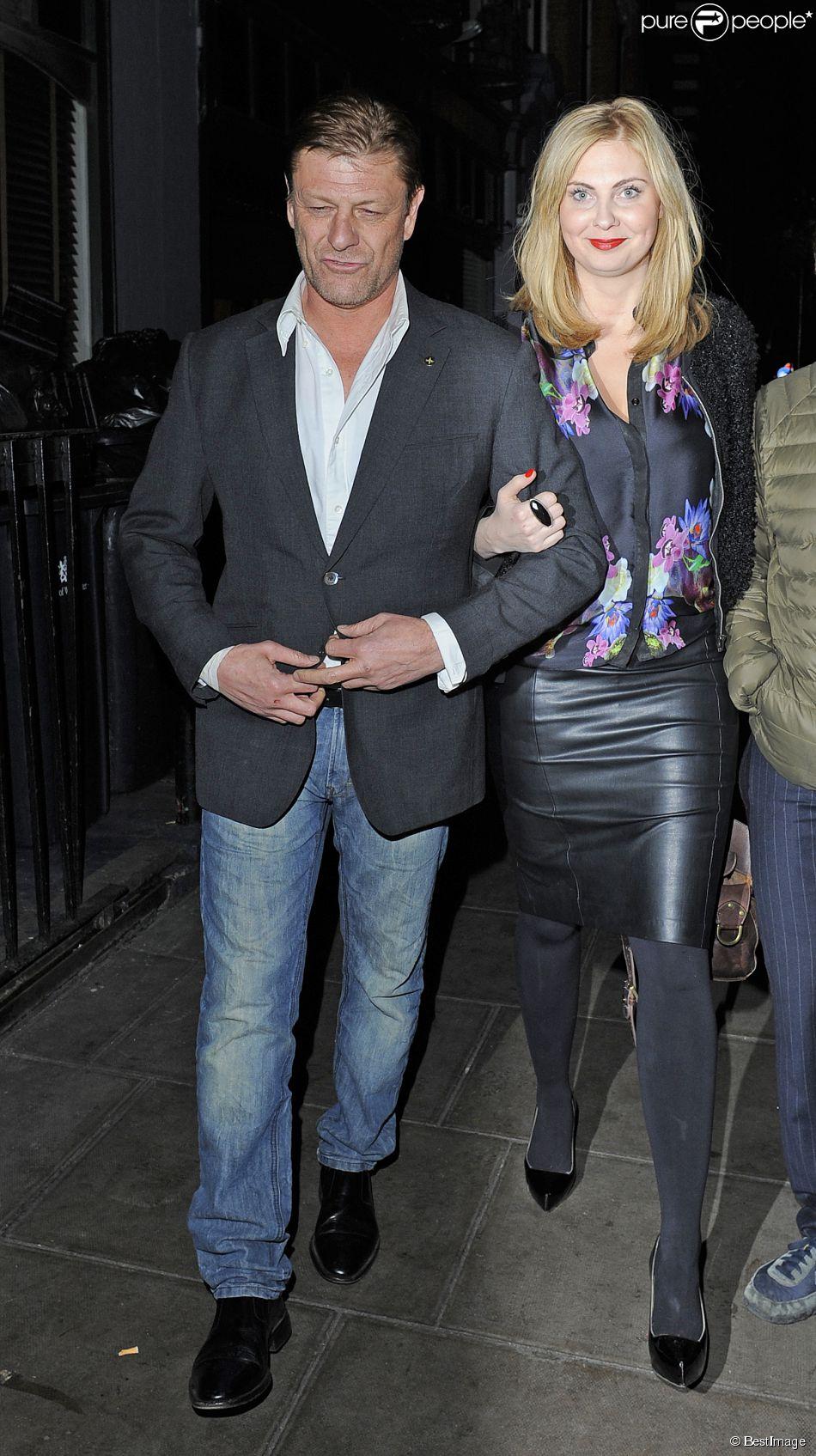 Sean Bean et sa compagne Ashley au Groucho Club à Londres le 15 novembre 2013