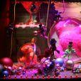 Illustration - Jerry Hall donne le coup d'envoi des illuminations de Noël aux Galeries Lafayette à Paris, le 5 novembre 2014.