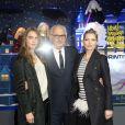 Paolo Cesare, Cara Delevingne et Kate Moss lors de l'inauguration des vitrines de Noël du magasin Printemps Haussmann à Paris, le 6 novembre 2014.