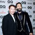 """James Blunt et Adrien Brody lors de la soirée de gala """"GQ Men of the Year Award"""" à Berlin en Allemagne le 6 novembre 2014."""