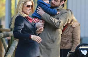Michelle Hunziker, enceinte : Moment tendresse avec son mari et leur fille