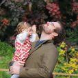 Tomaso Trussardi et sa fille Sole à Milan, le 8 novembre 2014.
