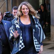 Blake Lively : Très enceinte et stylée, elle évoque le sexe du bébé