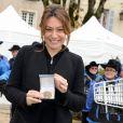 Shirley Bousquet lors de la 154e vente aux enchères des Hospices de Beaune, le 16 novembre 2014 à Beaune