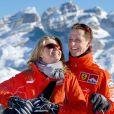 Michael Schumacher et sa femme Corinna à Madonna di Campiglio, le 12 janvier 2005