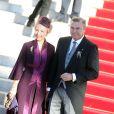 Le prince Charles et la princesse Camilla de Bourbon-Siciles, à la sortie de la cathédrale de Monaco après la messe d'action de grâce célébrée par Monseigneur Barsi pour la fête nationale, le 19 novembre 2014