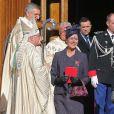 La princesse Caroline de Hanovre  à la sortie de la cathédrale de Monaco après la messe d'action de grâce célébrée par Monseigneur Barsi pour la Fête nationale, le 19 novembre 2014