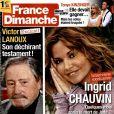 Ingrid Chauvin en couverture de France Dimanche, en kiosques le vendredi 21 novembre 2014