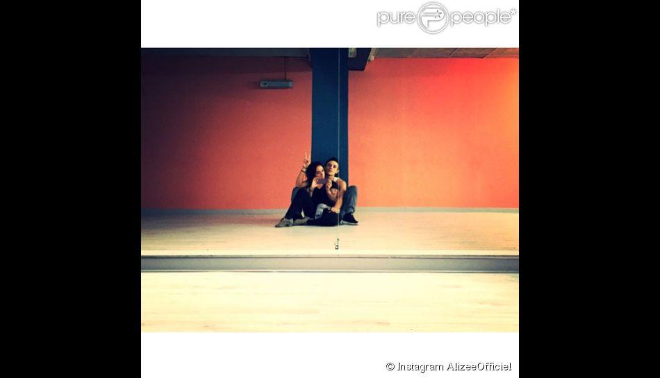 Alizée et Grégoire, réunis le 19 novembre 2014 dans une salle de répétition d'Ajaccio.
