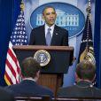 Barack Obama réagit depuis la Maison Blanche le 24 novembre 2014, après le verdict de la justice et sa décision de ne pas poursuivre Darren Wilson, le policier qui a tiré sur le jeune noir Michael Brown