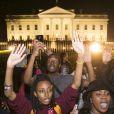 Manifestation à Washington après le verdict de la justice et sa décision de ne pas poursuivre Darren Wilson, le policier qui a tiré sur le jeune noir Michael Brown le 24 novembre 2014