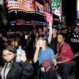 Manifestants à New York après le verdict de la justice et sa décision de ne pas poursuivre Darren Wilson, le policier qui a tiré sur le jeune noir Michael Brown le 24 novembre 2014