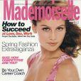 18 ans, et Laetitia Casta pose avec assurance pour le magazine américain Mademoiselle. Mars 1997.