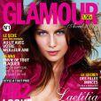 Laetitia Casta en couverture de Glamour, avril 2004.
