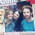 Sarah Michelle Gellar (avec son mari Freddie Prinze Jr), Michelle Trachtenberg et Seth Green prennent la pose ensemble en septembre 2014