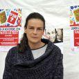 """La princesse Stéphanie de Monaco, présidente de l'association Fight Aids Monaco et ambassadrice à l'ONU Sida a participé pour la 3eme année au lancement de l'opération """"Test in the City"""" sur la promenade Honoré II à Monaco, le 24 Novembre 2014. Durant toute la journée, de façon anonyme, on peut faire une test VIH et se faire dépister gratuitement. Une simple goutte de sang prélévée comme un test pour diabétique, un mélange chimique de deux réactifs et en moins de 10 minutes, le bénévole qualifié remet le résultat du test. En cas de test positif une équipe (médecin, psycholgue) est là pour prendre en charge la personne qui découvrirait sa séropositivité. La princesse, met l'accent, sur le fait qu'il n'y a toujours pas de vaccin qui guérit du VIH et tente de sensibiliser autant les jeunes que les adultes aux risques de la contamination. Cette semaine Monaco sera l'un des pays où la lutte contre le SIDA sera mis en avant. Jeudi la princesse animera sur Radio Monaco, Jungle Fight, la seule émission mensuelle sur les ondes à ne parler que du VIH et de prévention. Vendredi, ce sera le déploiement des """"Courtes Pointes"""", en mémoire des personnes mortes du SIDA et le 1er décembre, journée internationale du SIDA, la traditionelle ventre aux enchères au profit de son association.  President of Fight Aids Monaco and U.N. Aids Ambassador, Princess Stephanie attends to launch for the third time, 'Test In The City', at Promenade Honoré II area in Monaco, on November 24, 2014. During all the day, people will can do a new Aids free test. In 10 minutes the result will be knew in the same spirit of a test for diabetes.24/11/2014 - Monaco"""