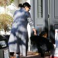 Kim Kardashian et sa fille North West, très lookées, étaient de sortie le 28 novembre 2014 à Los Angeles