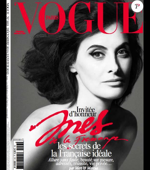 Inès de la Fressange en couverture du numéro spécial Noël de Vogue