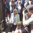 June et Barry Steenkamp lors de leur arrivée à la North Gauteng High court de Pretoria pour l'énoncé de la peine infligée à Oscar Pistorius le 21 octobre 2014