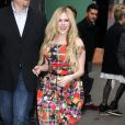 """Avril Lavigne pour l'emission """"Good Morning America"""" a New York, le 5 novembre 2013."""