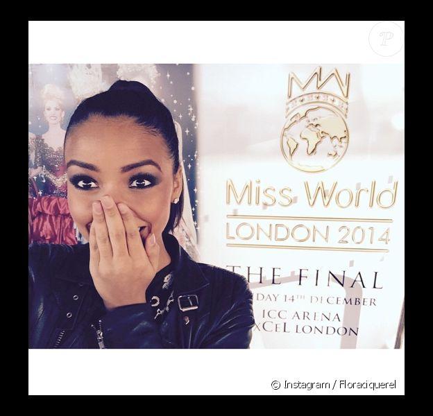 Flora Coquerel à l'élection de Miss Monde à Londres. Le 14 décembre 2014.