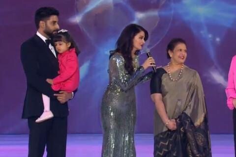 Miss Monde 2014 : Aishwarya Rai, sexy et amincie, avec sa fille et son mari