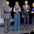 La reine Maxima des Pays-Bas lors de la remise du prix Prince Bernhard pour la culture au producteur de théâtre Johan Simons le 1er décembre 2014 à Amsterdam.