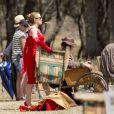 Exclusive - Kate Winslet sur le tournage de The Dressmaker à Horsham, Australie, le 10 décembre 2014.