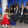 "Philippe Narmino et le prince Albert II de Monaco - Le prince Albert II de Monaco a assisté au spectacle de fin d'année des tout-petits de la crèche de Fontvieille et a procédé à la traditionelle remise des cadeaux de Noël à Monaco, le 16 décembre 2014.  Prince Albert II of Monaco attends ""Fontvieille"" kindergarden to Christmas celebration in Monaco on December 16, 2014.16/12/2014 - Monaco"