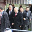 Exclusif - Shimon Peres assiste à un événement organisé par Le Cercle des Médias, à Paris le 17 décembre 2014.