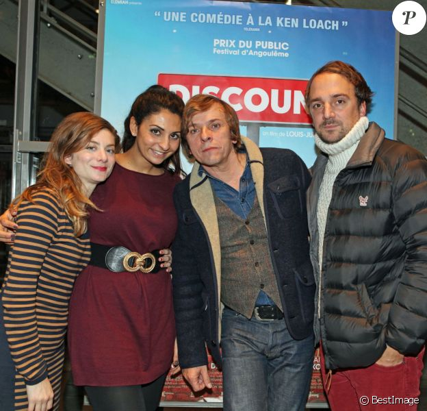 """Exclusif - Sarah Suco, Liza Benguigui, Pascal Demolon et Louis-Julien Petit - L'équipe du film """"Discount"""" fait la promotion du film à Bordeaux, le 18 décembre 2014."""