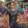 "Melanie Brown arrive aux auditions de ""X-Factor"". Le 24 juin 2014"