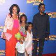 Chris Rock, sa femme et ses enfants à la première du film Madagascar 3 le 7 juin 2012