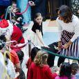 Michelle Obama a lu un conte pour les enfants, au Children's National Health System à Washington, le 15 décembre 2014
