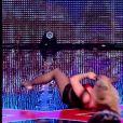 Le duo Acrofuzion, dans Incroyable Talent 2015, le mardi 30 décembre 2014.