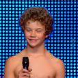 Le jeune Antoine, dans Incroyable Talent 2015, le mardi 30 décembre 2014.