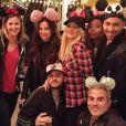 Christina Aguilera à Disneyland, en Californie, le 18 décembre 2014
