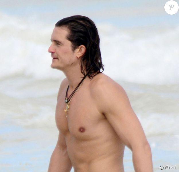 Orlando Bloom en vacances à Cancun, le 28 décembre 2014.