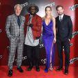 Sir Tom Jones, will.i.am, Rita Ora et Ricky Wilson assistent à l'événement de lancement de The Voice saison 4 à Londres. Le 5 janvier 2014.