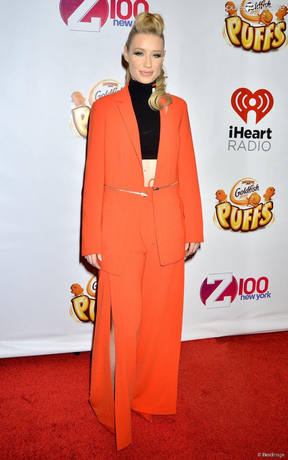 """Iggy Azalea à la Soirée des """"z100s Jingle Ball"""" à New York. Le 12 décembre 2014"""