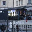 """Assaut des forces de l'ordre et libération des otages qui se trouvaient dans le supermarché cacher """"Hyper Cacher"""" porte de Vincennes à Paris, le 9 janvier 2015."""