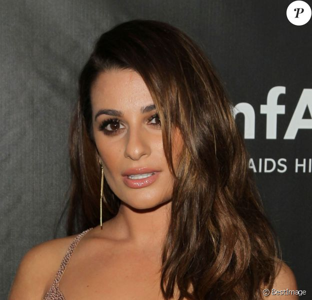 Lea Michele - Soirée amFAR Inspirational gala à Los Angeles le 29 octobre 2014
