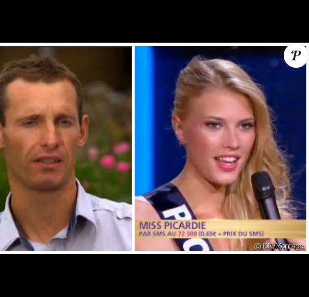 Franck de la saison 10 de L'amour est dans le pré et Adeline Legris-Croisel, Miss Picardie 2015