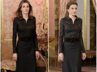 Letizia d'Espagne : Dame en noir mincissime, remake de 2012, face aux diplomates