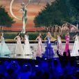 Les Miss défilent à la U.S. Century Bank Arena, à Miami, Floride, le 21 janvier 2015 pour Miss Univers 2015